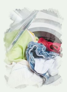 Wash bedding, clothes, and towels