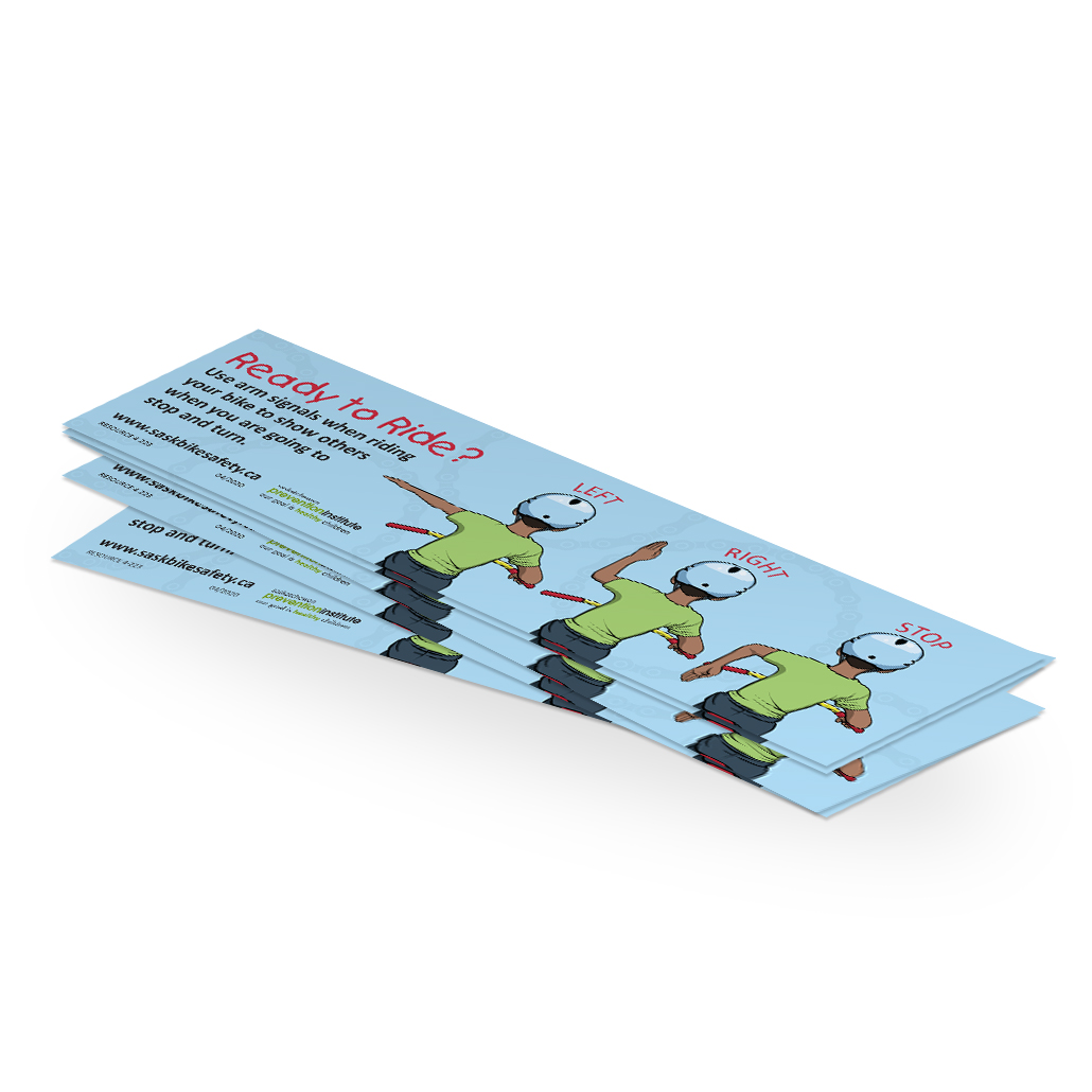 4-223: Bike Safety Arm Signals Bookmark