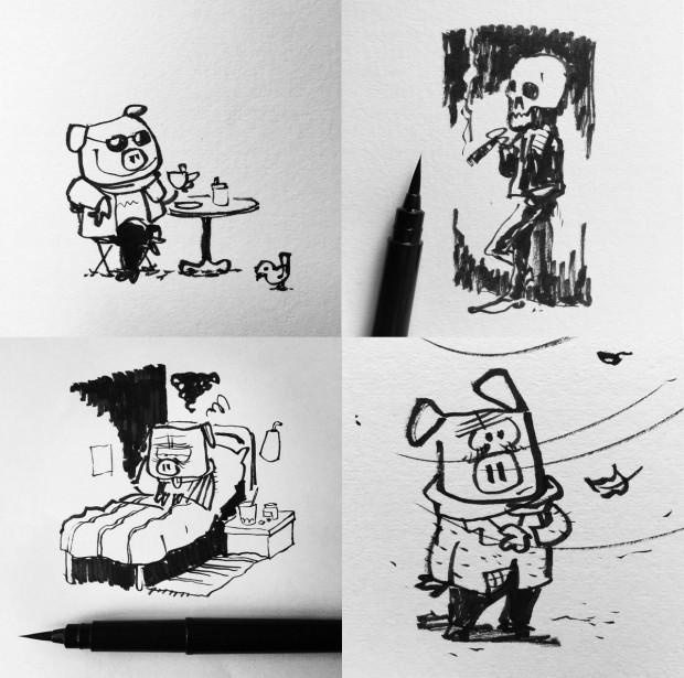 inktober skraentskov tegner