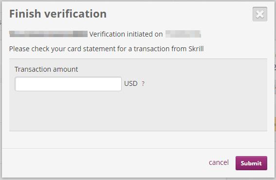 Finish Verification Popup