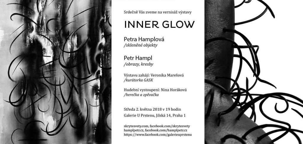 pozvánka na výstavu Inner Glow Petry Hamplové a Petra Hampla
