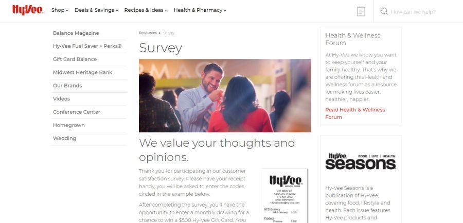 www.Hy-Veesurvey.com - Win $500 Gift Card - Hy vee Survey
