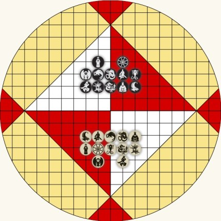 Capture Pai Sho example board setup