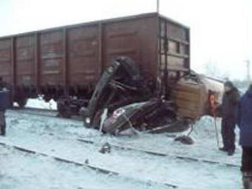 столкновение поезда и бензовоза