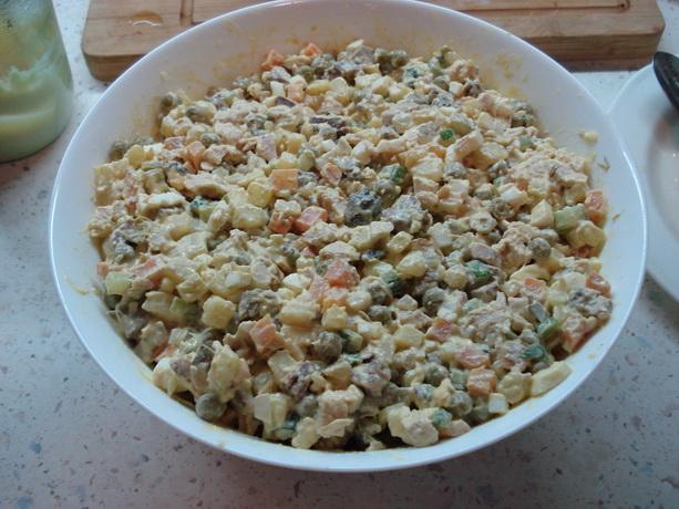 Рецепт салат Оливье фото
