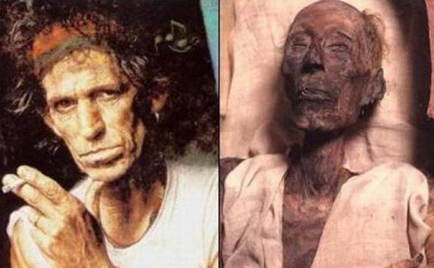 Кит Ричардс и 3000-летняя мумия Рамзеса