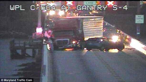 Автокатастрофа на мосту через Чесапикский залив