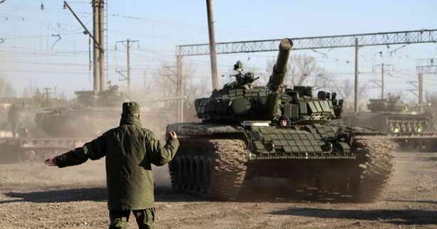 Разгрузка танка