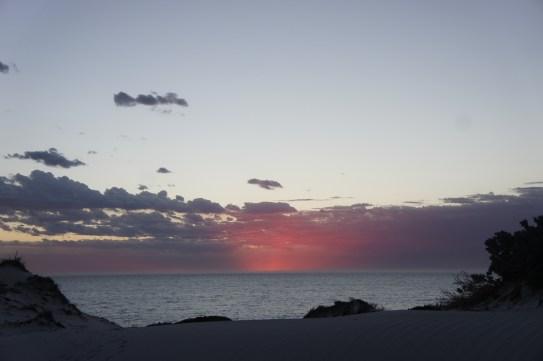 sunset at sandy cape