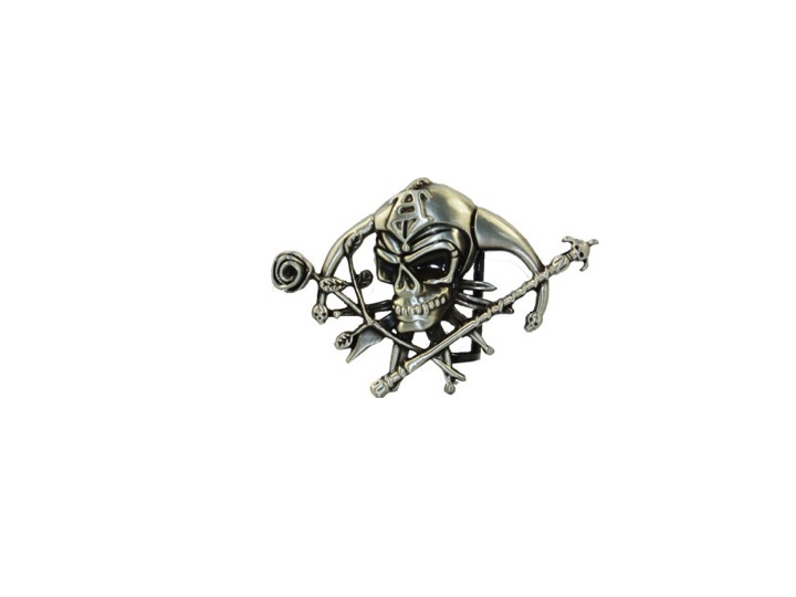 Men's Shiny Joker Jester Rose Skull Belt Buckle 053