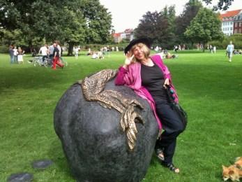 Marianne Miller i Kongens Have, København.