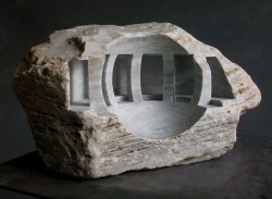 """Solaris"" - 2010, Carrara marble, height 24 cm"
