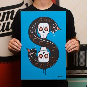 12×18 Snake and Skull poster