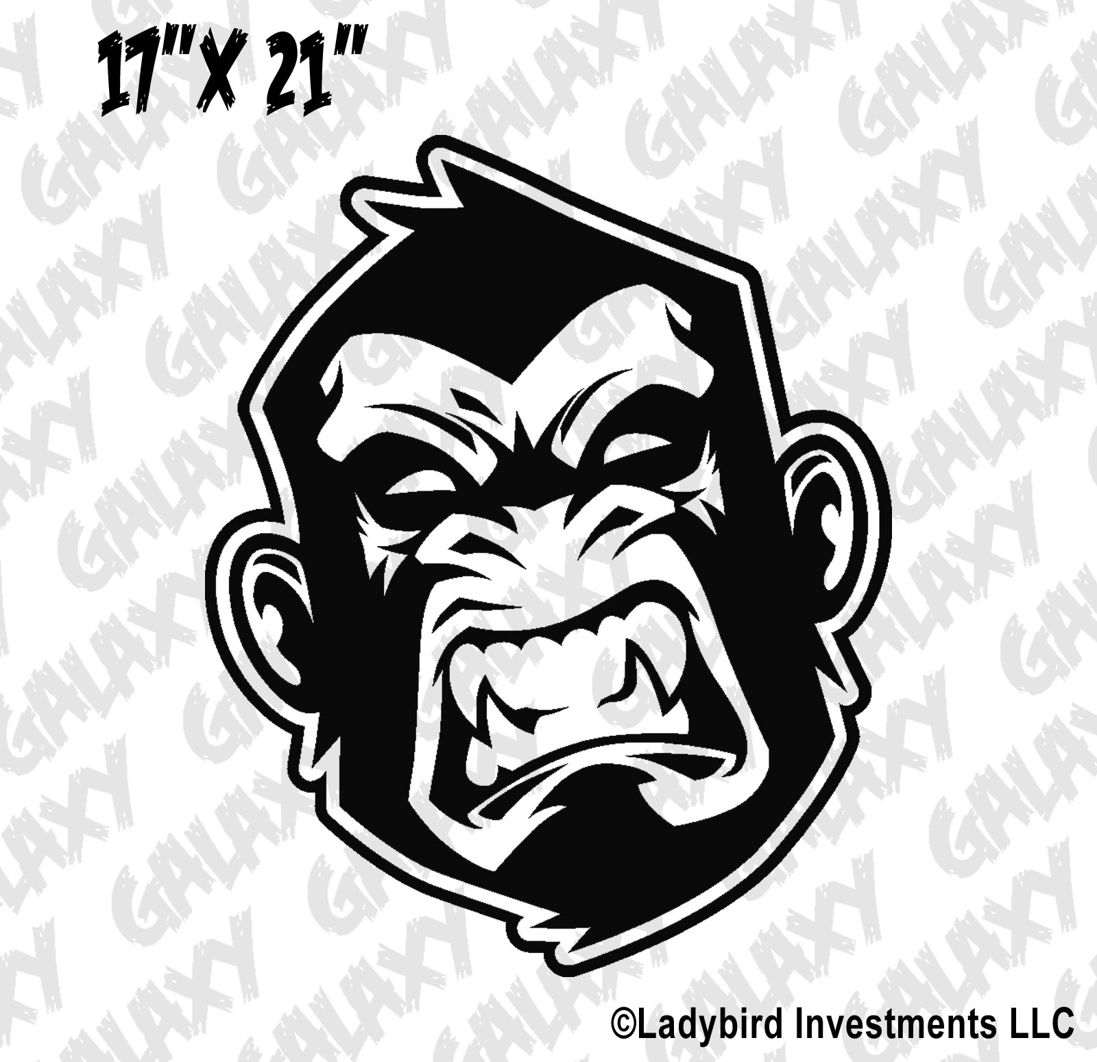 Jeep Wrangler Hood Decal Angry Monkey Sticker