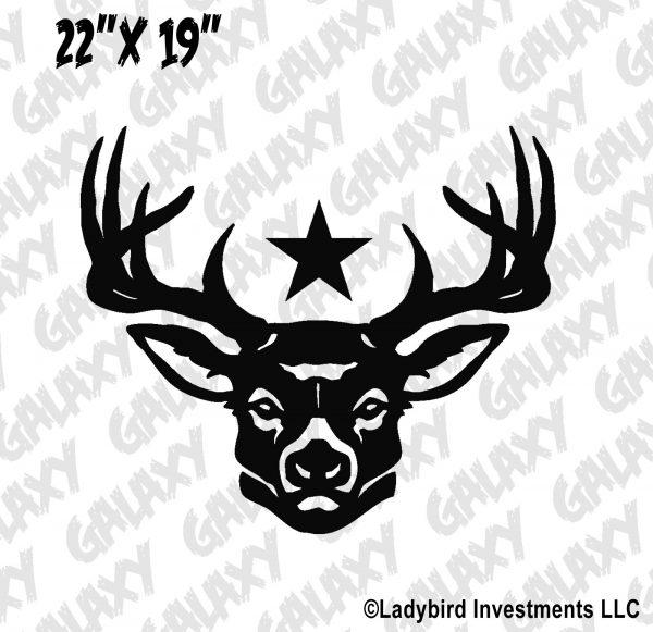 Jeep Wrangler Hood Decal Deer Star Sticker
