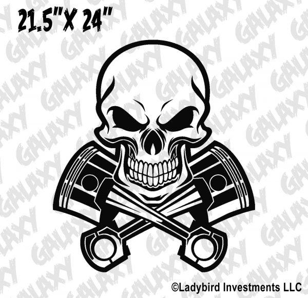 Jeep Wrangler Hood Decal Skull & Crossbones Pistons