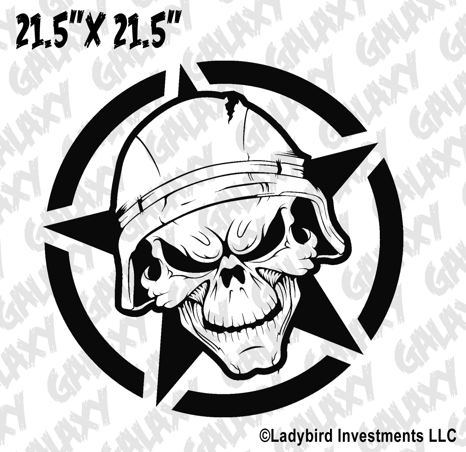 Jeep Wrangler Hood Decal Army Star Soldier Skull Sticker
