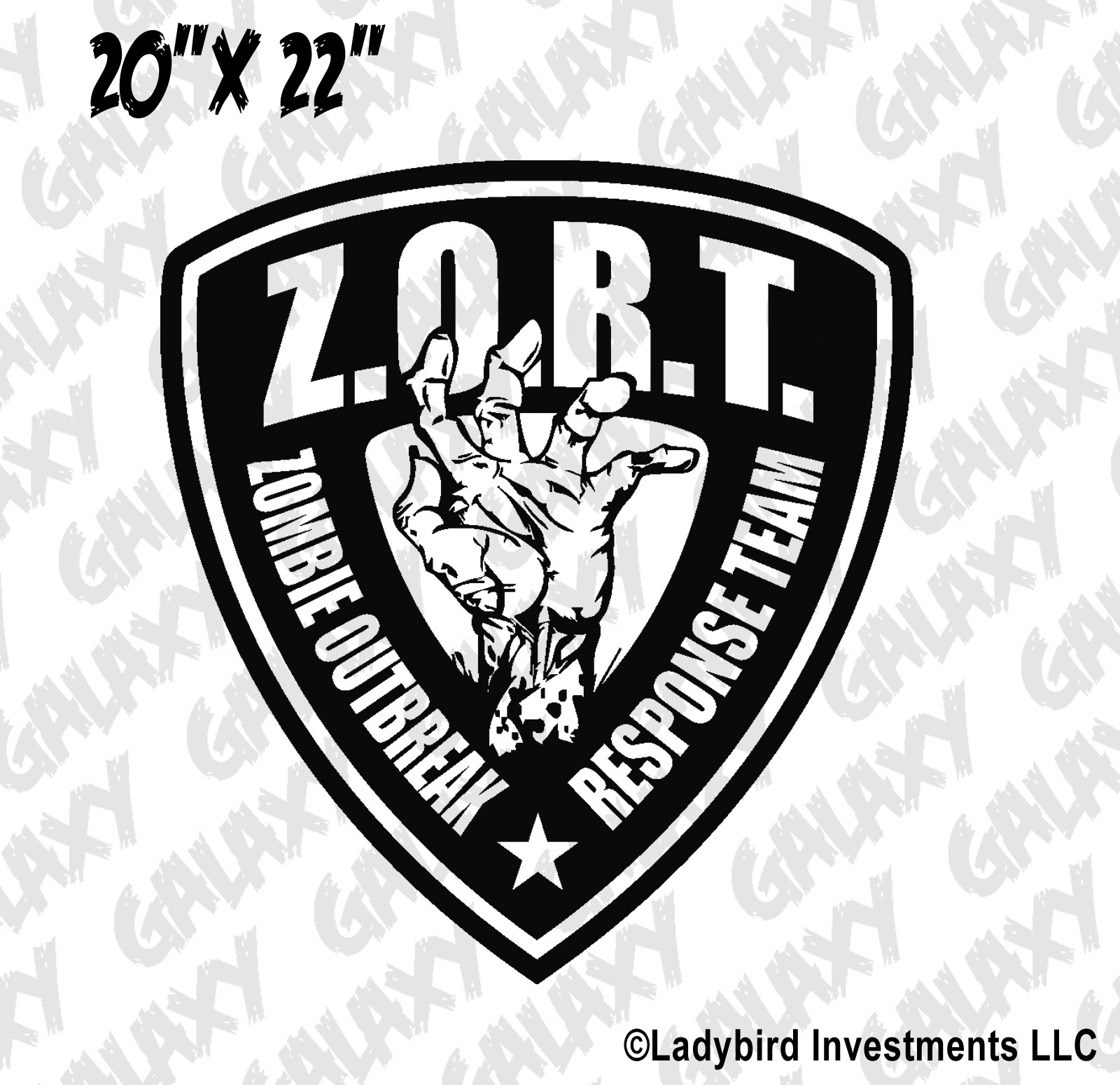 Jeep Wrangler Hood Decal Zombie Outbreak Response Badge