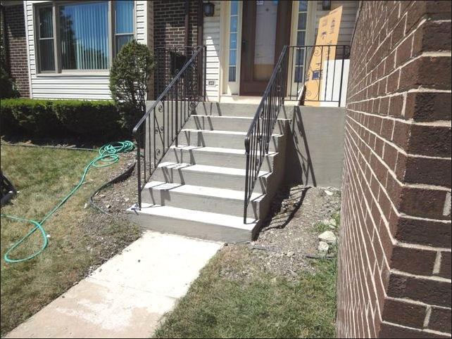 Concrete Steps Concrete Stairs Railings Repair | Loose Railing In Concrete | Stairs | Concrete Steps | Cement | Aluminum | Stair Stringers