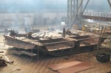 Izgradnja kobilice za Novogradnju 484 u 1. lođi NPH u Brodosplitu
