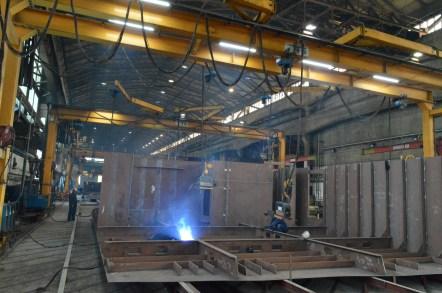 Linija za montažu i zavarivanje polusekcija u Brodosplitovoj brodoobradnoj radionici