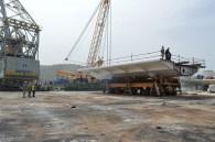 Transport prvog celicnog segmenta mosta Ciovo izgradenog u Brodosplitu (7)