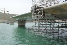 Transport prvog celicnog segmenta za Most Ciovo izgradenog u Brodosplitu (5)