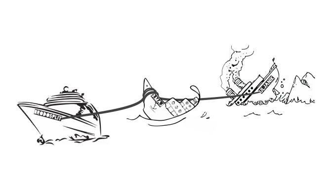 Karikatura - Brodosplit - 3.maj - Uljanik
