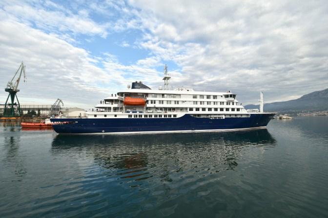 Novogradnja Brodosplit 484 HONDIUS odlazi iz luke splitskog brodogradilišta
