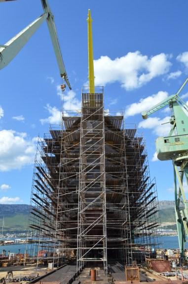 Flying Clipper u izgradnji - Brodosplit, 25.5.2017. - FOTO Skveranka.