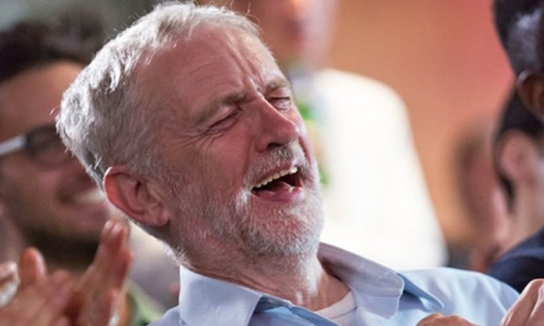 corbyn laughing