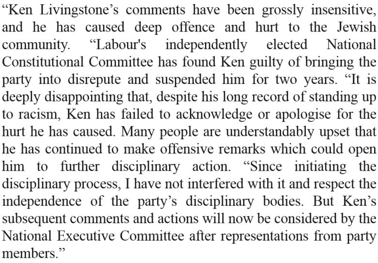 corbyn on lstone