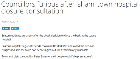sham hospital consult