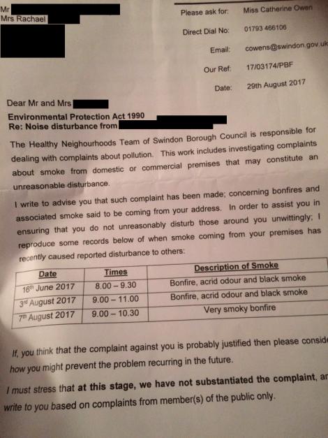 fire complaint