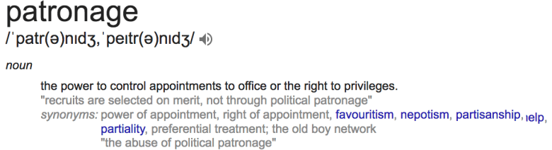 patronage