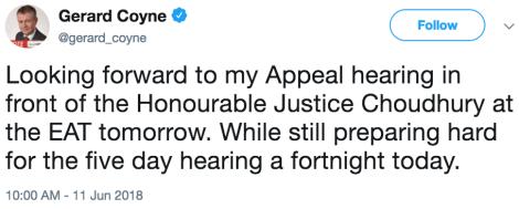 coyne appeal tweet