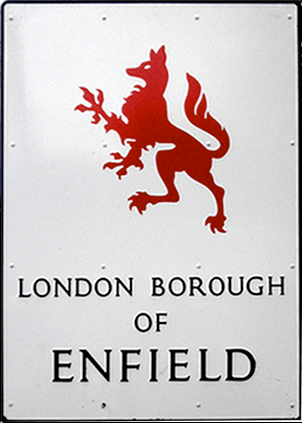 enfield road sign