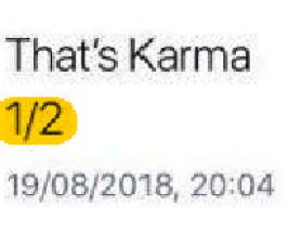 karma 1-2