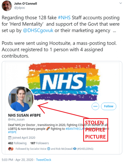 BIGGEST POLITICAL SCANDAL SINCE CAMBRIDGE ANALYTICA ABOUT TO BREAK AS FAKE NHS ACCOUNTS 'SET UP BY DEPT OF HEALTH'