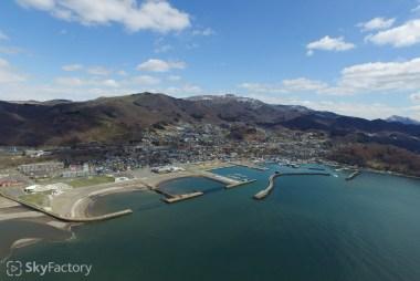 空撮/虻田郡豊浦町・2015春