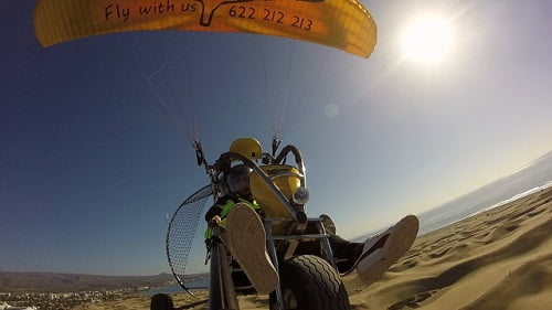 paratrike powered paragliding Gran Canaria