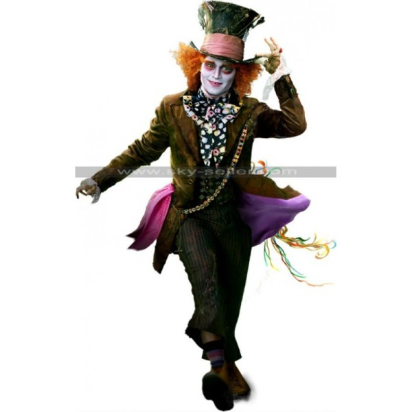 Alice In Wonderland Mad Hatter Johnny Depp Costume Coat