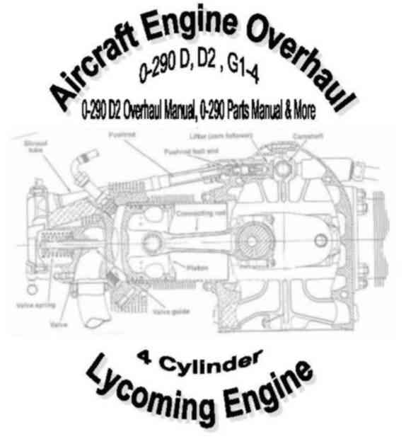 Lycoming O 290D Engine Overhaul & Conversion Manuals : New