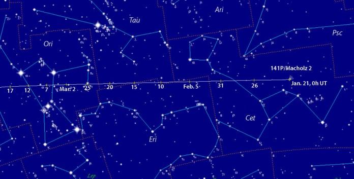 Comet 141P/Machholz finder chart