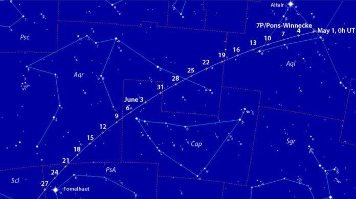 Comet 7P/Pons-Winnecke finder chart