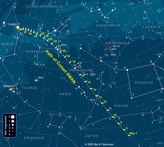 Comet SWAN Expected to Put on a Splendid Show - Sky & Telescope ...