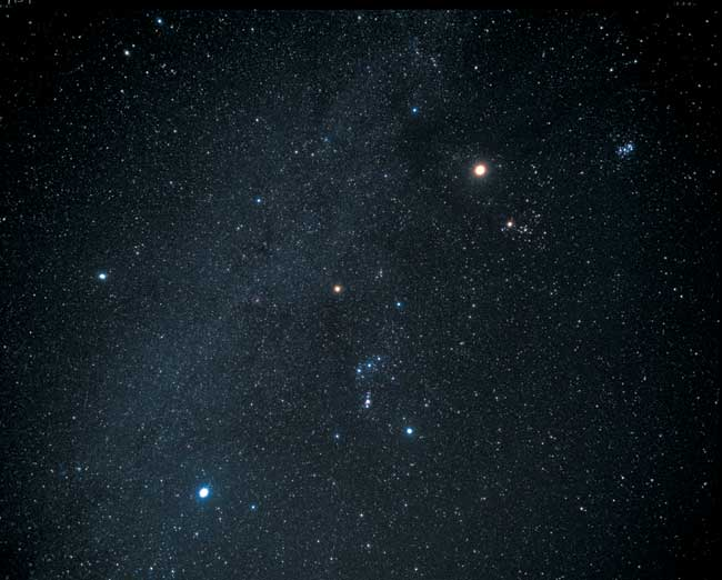 Orion with Betelgeuse over Sirius