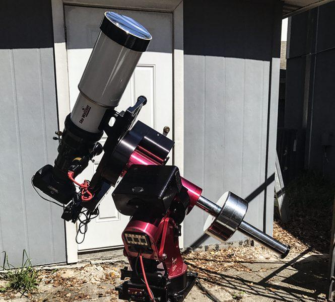 सौर टेलीस्कोप सेटअप