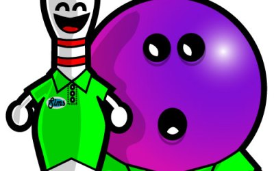 Pinzy and Bowlz Coloring Page