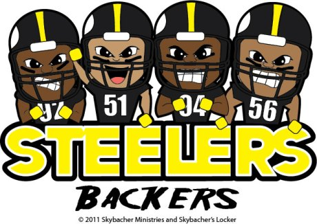 steelers linebackers, steelers cartoon, steelers clipart, steelers defense